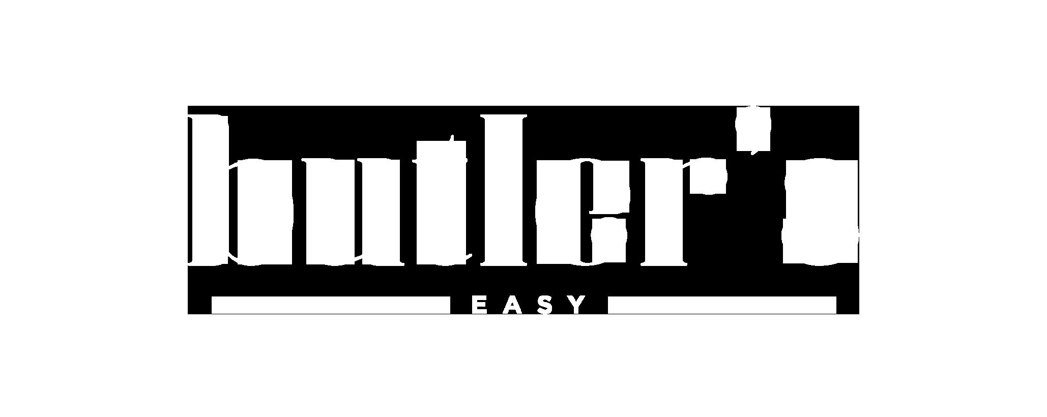 butler's easy logo white